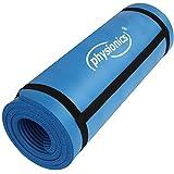 Physionics Fitnessmatte Bodenmatte geeignet als Yogamatte, für Pilates umv. in 2 verschiedenen Größen (180 x 60 x 1,5 cm)