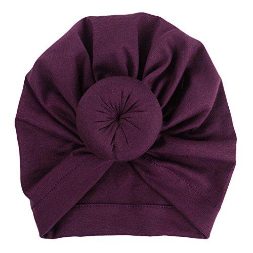 Fuibo Baby Hut, Baby-Turban-Kleinkind scherzt Jungen-Mädchen-Indien-Hut reizenden weichen Hut| Kinder Kappe Fischerhut Schirmmütze Strohhut (Purple) (Herren Turban Hut)