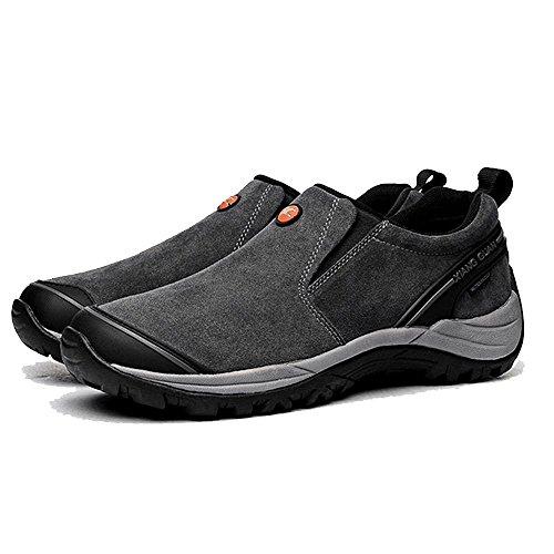 Xiang Guan Homme Suède Imperméable Outdoor Slippers Chaussures de Camping Randonnée Walking Trekking Trail Sneaker Gris foncé