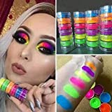 Allowevt 6 Colores de Polvo de Neón Fluorescente Polvo de uñas Sombra de Ojos...