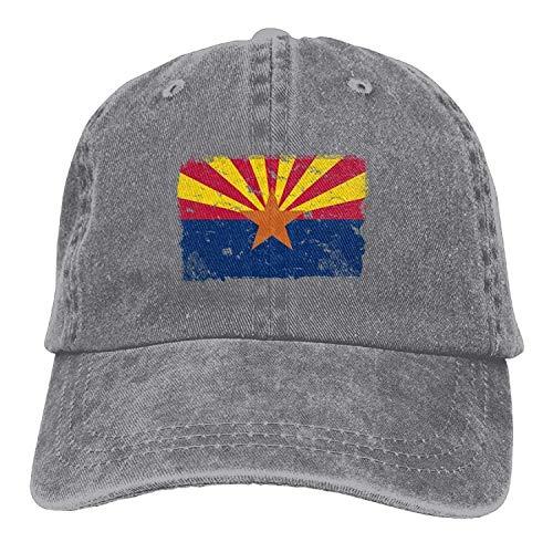 Sweet grape Arizona Vintage Flag Denim Hat Adjustable Men Great Baseball Cap