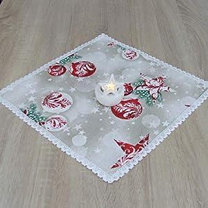 Erstaunliche Kleine Quadratische Tischdecke, Weihnachten, das Beste Geschenk für die schönste Küche von HomeAtelier, Weihnachtsdekoration, Weihnachtskugeln, 40x40cm