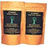 ETHERIC Sandal and Rose Petal Powder 100g Combo of 2