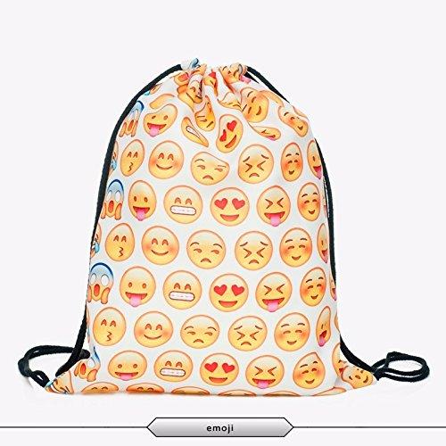 Imagen de smallbox cute funny emoji multi fun 3d impresión cordón  para unisex, yellow emoji