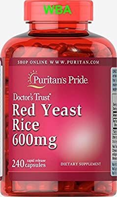 Puritan's Pride Red Yeast Rice 600 Mg 240 Capsules Fast Dispatch (213) by PURITAN'S PRIDE