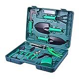 KOBWA 10 PCS Garten Werkzeug Set mit Aufbewahrungskasten, Gartengeräte Handwerkzeug Im Tragekoffer für Männer Frauen Ein Hauptgarten Blumen Gemüse Eingemachte Blumen