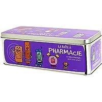 Promobo Medikamentendose mit französischer Aufschrift und Bildern, Violett preisvergleich bei billige-tabletten.eu