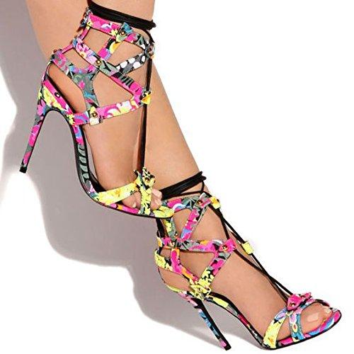 Tacchi alti sandali Croce Suits sandali semplici sandali degli alti talloni Color