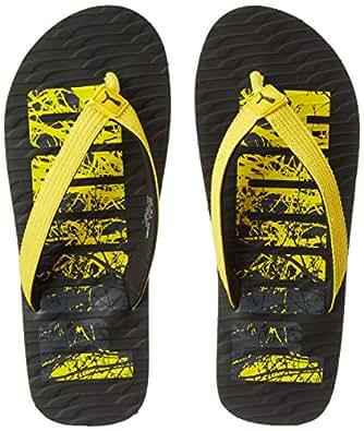 Puma Unisex Miami Fashion Dp Black-Yellow-Quarry Hawaii House Slippers - 10 UK/India (44.5 EU) (36619802)