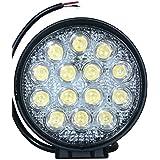 "Hard Knit Tarsier 42W Epistar LED Worklight High Power Fog Light Lamp 42W 4.5"" Inch Auxiliary Lamp Spot Beam Round Off Road Lighting 12V, Set Of 2"