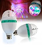 #5: LMNOP - Disco Light, Party Light, LED Rotating Lamp, Multicolor Rotating Effect, B22 Connector