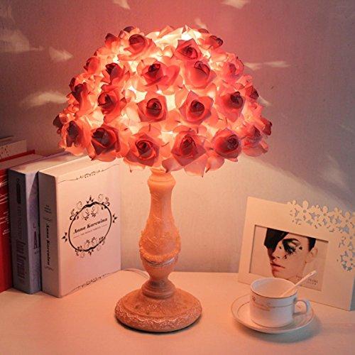 Creation Schreibtischlampe Tischlampe mit Rose Lampenschirm Dimmable Nachtlicht für Bedside Reading Home Office