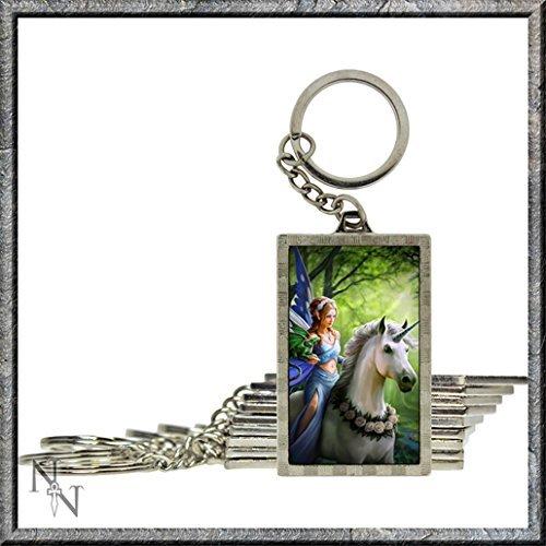 Realm Of Enchantment Unicorno e fata 3d portachiavi by Anne Stokes Nemesis Now