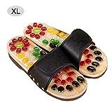 gouxia74534 Ciabatte Pantofole massaggianti per Piedi da Donna, Pantofole massaggianti per Massaggio dei Piedi, comode, per la Salute e la Fisioterapia Noir XL