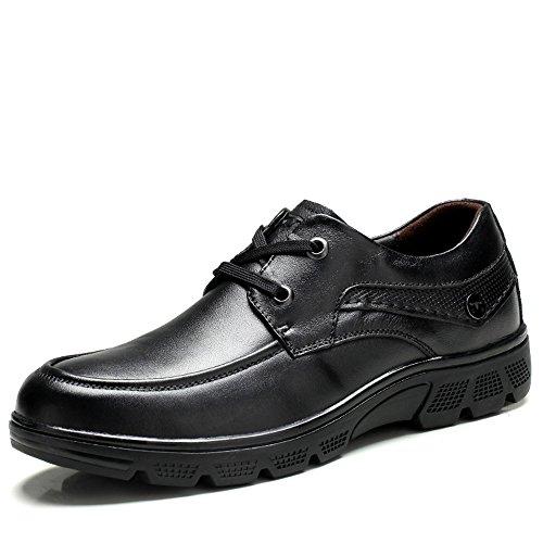 MLMHLMR Einfache Männer Schuhe Oxford Leder Business Kleid Schuhe schweren schwarzen Lederhochzeitsschuhe Lederschuhe für Herren (Color : Black, Size : 8.5 D(M) US) -