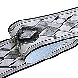HyFanStr Bordure autocollante en Relief pour carrelage Noir 500 x 10 cm, Noir Diamant, 500x10cm