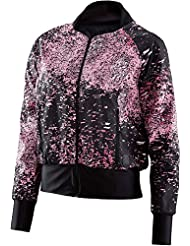 Skins Interlect Bomber Jacket Women Stardust Flamingo 2017 Laufjacke