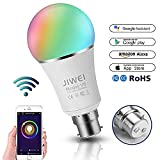 Intelligente LED Birne Alexa, Google Home : WIFI LED Hue Light, B22 RGB 7W Colour Changing Timing Function, Remote Controlled by IOS/Android Devices, 60W Equivalent, No Hub Required, [Energy Class A+]-