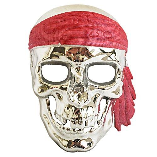 G-JY Lace Maske venezianische Maske Halloween Maske Halloween April Fools Day Make-up Make-up Ball Maske, Silber