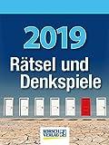 Rätsel und Denkspiele 2019: Tages-Abreisskalender mit Rätseln und kniffligen Denkaufgaben I Aufstellbar I 12 x 16 cm