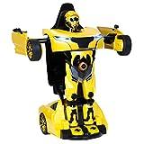 Charles Bentley Rastar RS X Man Transformer - Kinder Spielzeug-Auto & Roboter 2in1 mit Fernsteuerung - lizenziert - 3 Farben erhältlich - Gelb