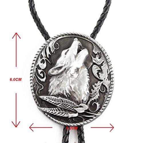 Bai You Mei - Corbata - para hombre negro Silver Wolf Talla única