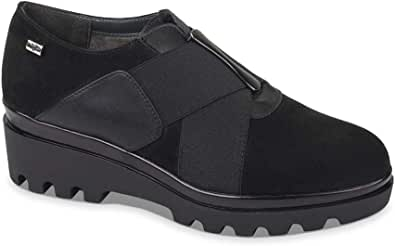 Valleverde 45122 Sneakers Scarpe Slip on Donna in Pelle Nero Casual