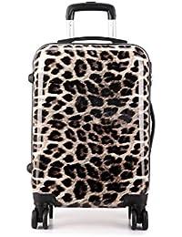 Kono carcasa rígida leopardo 4ruedas Trolley Equipaje de mano maleta cabina luz bolsa de viaje