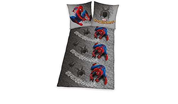 140  x  200  x   cm multicolore Cotone Herding Spiderman Home Coming Set di Set Copripiumino singolo e federa Cotone