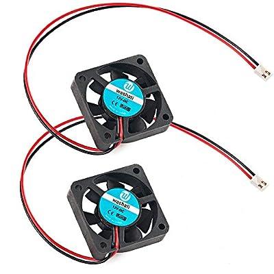 2 Stück Washati® 12V 40x40x11mm Lüfter mit 30cm Kabel, für 3D Drucker, etc