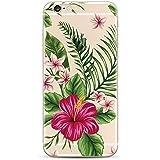 iPhone 6 ,iPhone 6s-Coque gel souple incassable anti choc avec impression motif fleurs-NOVAGO® (Bouquet Exotique)