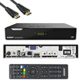 Edision PICCOLLO S2+T2/C Combo Receiver H.265/HEVC  CI Full HD USB Schwarz inkl. HDMI Kabel
