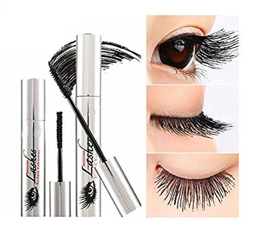 TPulling 4D Wimperntusche  Creme Make-Up Peitsche Kalt Wasserdicht Wimperntusche Auge Schwarz Wimpernverlängerung verrückt lange Stil...