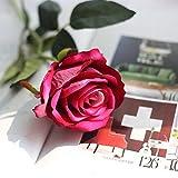 THk&M Artificial Flower simulazione di nozze forniture di flanella rosa decorazione casa vegetale, rosa rosso