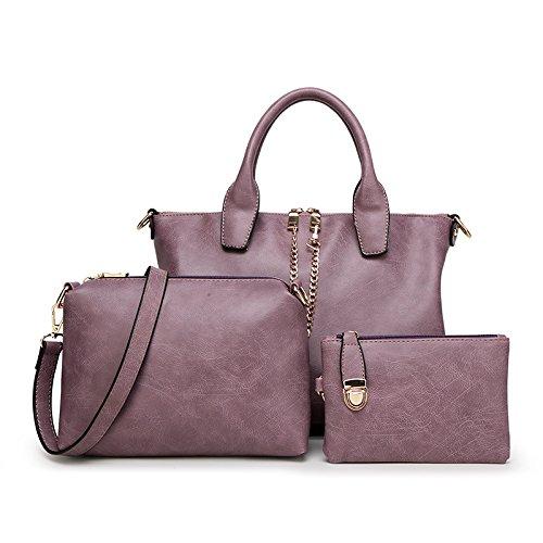 Mefly Nuova Borsetta Tracolla Messenger Bag Moda Donna Bag Bianco Claret