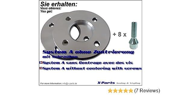 10mm Rad SilverLine Spurverbreiterung 20mm Achse 12124E/_23/_4250891959581 LK: 5x120 NLB: 72,6mm