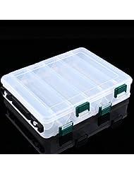 Caja de Almacenamiento para Señuelos de Pesca multifunción Portátil 12 Compartimentos ...
