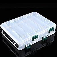Caja de Almacenamiento para Señuelos de Pesca multifunción Portátil 12 Compartimentos Aparejos de Pesca