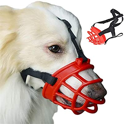 JYHY® Soft Silica Gel Dog Muzzles,Adjustable Anti Biting Chewing Barking Training Dog Muzzle from JYHY