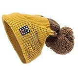 JMETRIC Damen|Beanie Hat|Strickmütze| Winter Bommelmütze| Kopfbedeckung |Herbst Winter-mütze|Crimpen mütze