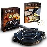Tortillada - Pressa di Alta Qualità per Tortilla in Ghisa con Ricette (20cm)