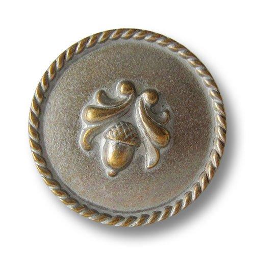 Knopfparadies - 5er Set hübsche silbrig messingfarbene Trachtenknöpfe -