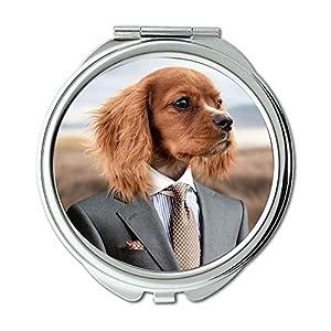 vacunas perro: Espejo compacto, espejo para perro, cachorro, perro pequeño, pequeño perro, espe...