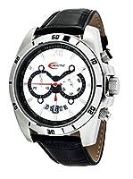 Creactive CA120113 - Reloj pulsera analógico para hombre de cuarzo (cronógrafo), correa de de cuero negra de Creactive