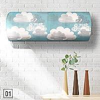 ZHUOTOP 1 pieza Impresión Impresión Impresión Impermeable Aire Aire Condición Tejido Cubierta Hogar Herramientas de Limpieza