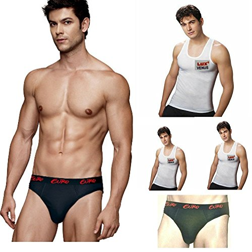 Euro & Lux Men's Cotton Brief with Combo Pack of 2 Breif & 3 Vest (Pack of 5)  available at amazon for Rs.380