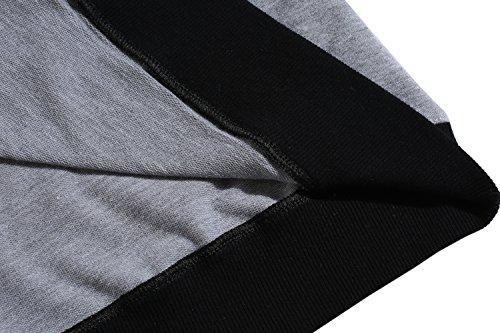 ZEARO Langarmshirt Herren BASIC Longsleeve Tee T Shirt Langarm Grau