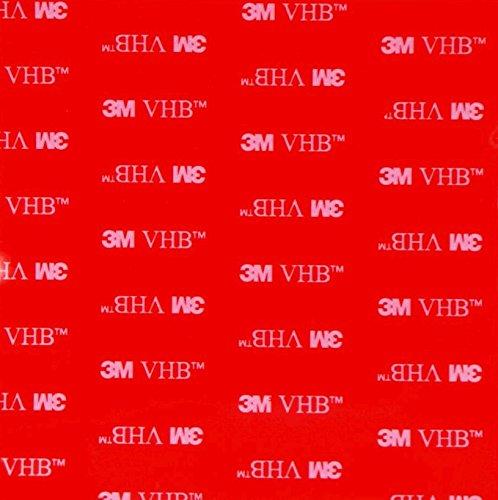 2 Patins individuels X clair double face Acrylique VHB 3 m carré Coussinets – 100 mm x 100 mm x 1 mm d'épaisseur – Résistant aux intempéries VHB Heavy Duty ruban – Modèle : 4910