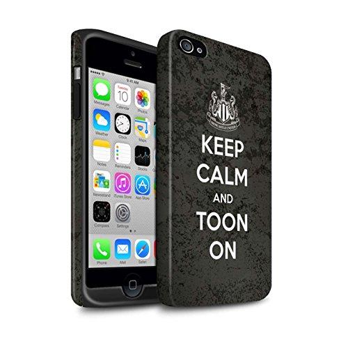 Offiziell Newcastle United FC Hülle / Matte Harten Stoßfest Case für Apple iPhone 4/4S / Pack 7pcs Muster / NUFC Keep Calm Kollektion Toon On