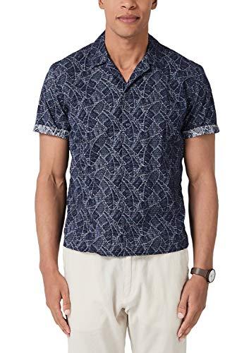 s.Oliver Herren 13.904.22.2269 Freizeithemd, Blau (Classic Navy 58a1), Medium (Herstellergröße: M) -